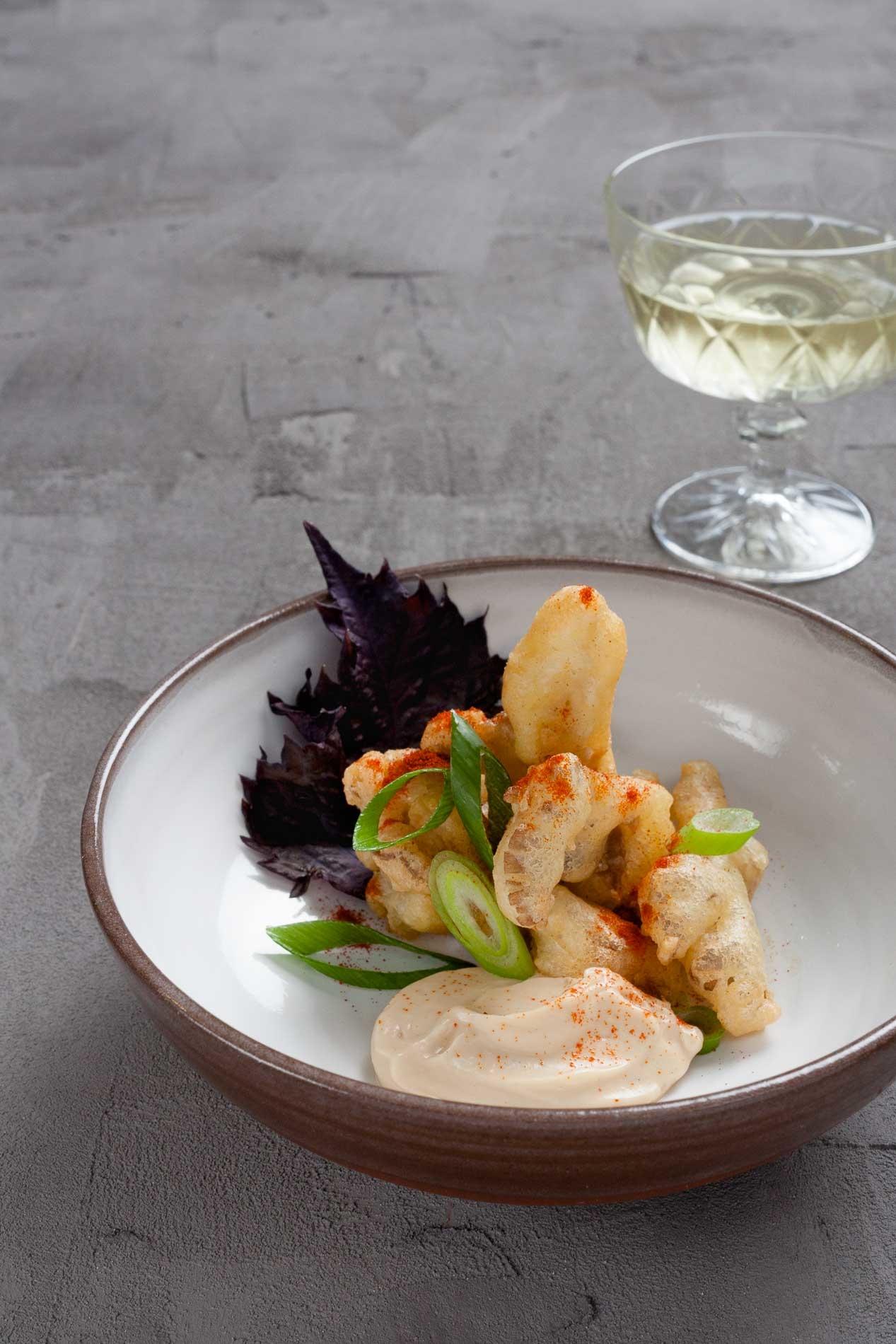 plant-based starter gourmet dish in a restaurant