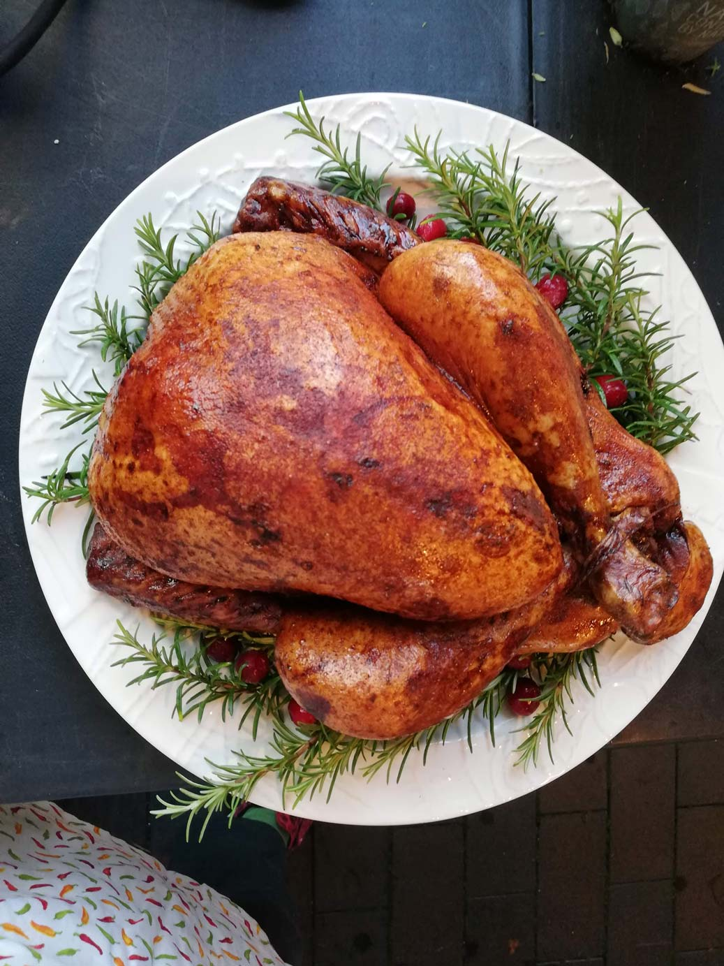 Christmas Turkey Styled On A Plate
