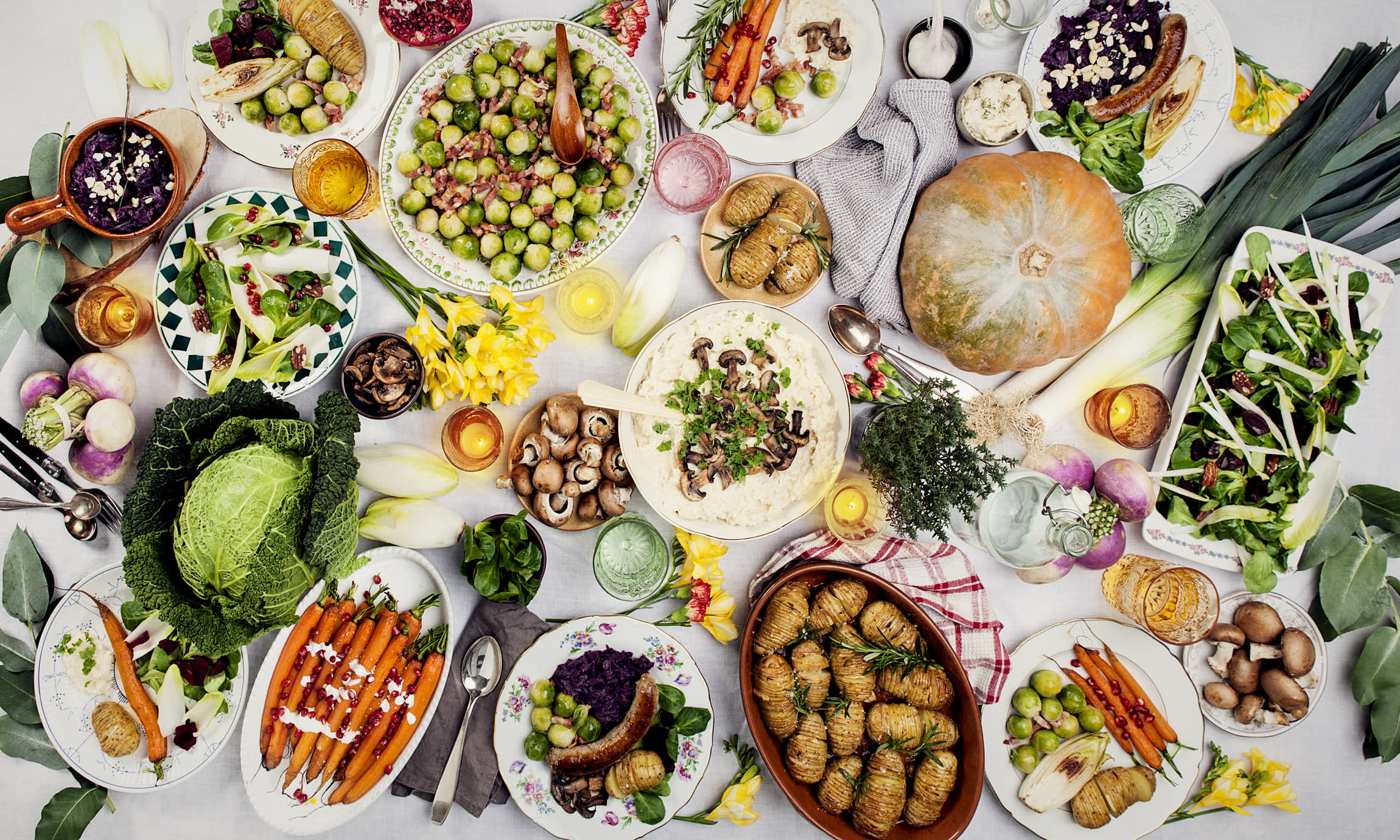 image of a table full of good food